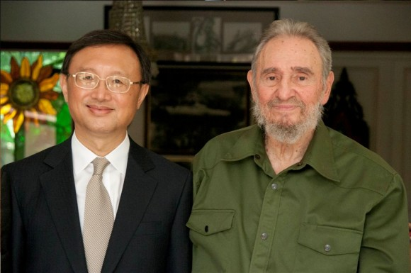 Recibió Fidel a Yang Jiechi, canciller de China