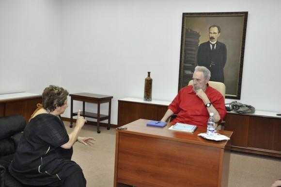 Fidel Castro y Carmen Lira Saade Foto: Estudios Revolución