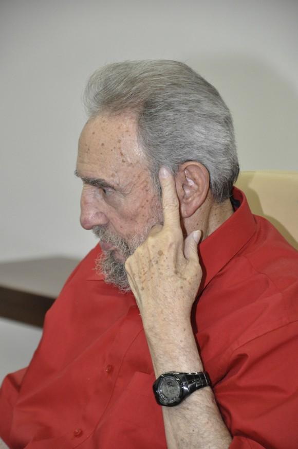 Fidel Castro durante la entrevista. Foto: Estudios Revolución