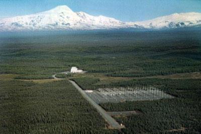 Vista del sistema de Antenas HAARP