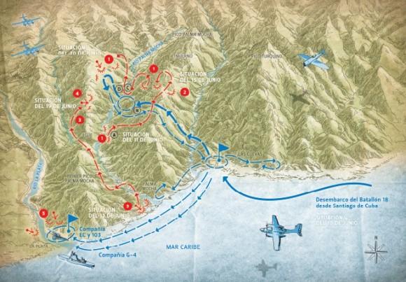 Cerco al Batallón 18 al mando del comandante José Quevedo, combate en el río La Plata.
