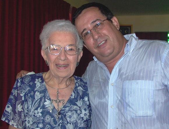 María Teresa Linares y Abel Acosta. Foto: Marianela Dufflar
