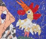 """""""Mucho corazón"""", obra de José Fuster dedicada a Fidel."""
