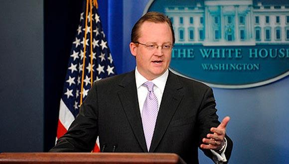 Robert Gibbs, vocero de la Casa Blanca
