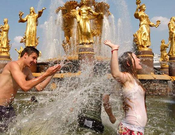 Ola de calor en Rusia