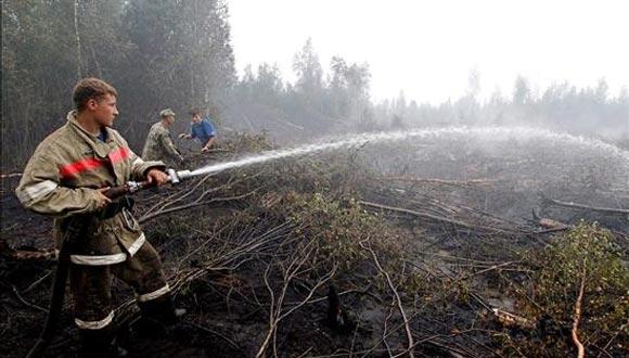 Incendio en Rusia. Foto: Archivo