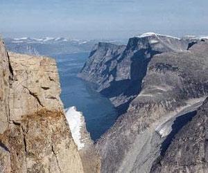 Rocas volcánicas de la isla Baffin, en el Ártico canadiense.