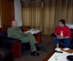 Tarek William Saab y Fidel Castro, en el 2005. Foto: Archivo de TWS