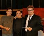 Rafael Solís, Albertico Pujols y Amaury Pérez. Foto: Petí