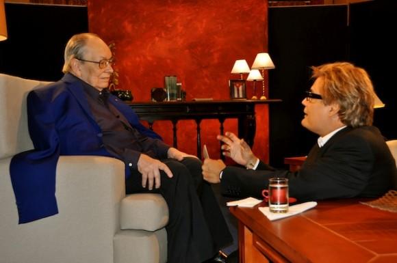 """Alfredo Guevara y Amaury Pérez en """"Con 2 que se quieran"""". Foto: Petí"""