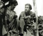 Los combatientes rebeldes Antonio Sánchez Díaz, Pinal o Pinares y William Gálvez Rodríguez, durante las acciones contra la ofensiva enemiga.
