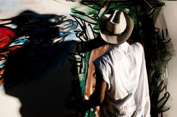 Choco. Mural por la paz de la Brigada Martha Machado. Foto: Roberto Chile