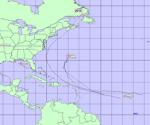 Trayectoria seguida hasta el momento por los Huracanes y Tormentas Tropicales del 2010. Obsérvese el patron seguido por los sistemas del Atlántico alrededor del anticiclón oceanico.