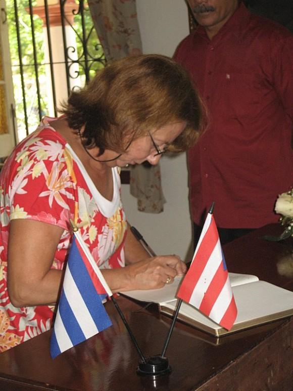 Rosa Aurora Freijanes, esposa de Fernando González Llort, uno de los Cinco cubanos. Foto: Margarita Alarcón