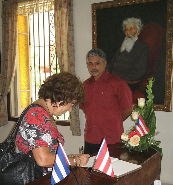 Olga Salanueva, esposa de René González, uno de los Cinco cubanos presos en EEUU. Foto: Margarita Alarcón