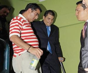Correa en el hospital
