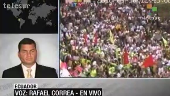 Ecuador denuncia en la OEA intento golpista contra Correa