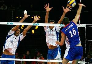 El equipo cubano de voleibol