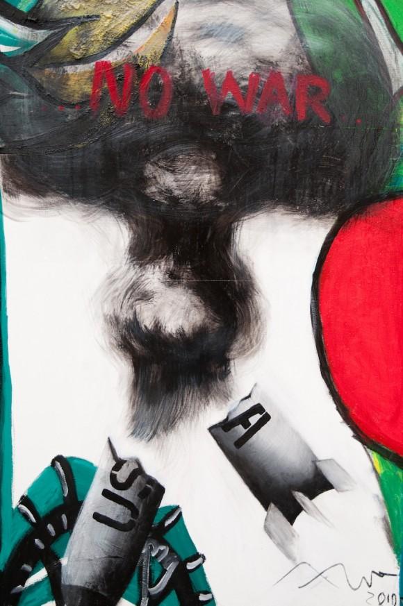 Detalle. Mural por la paz de la Brigada Martha Machado. Foto: Roberto Chile