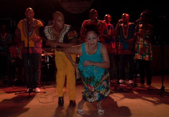 Grupo Rumbatá de Camaguey en la presentación de los discos Beat Cubano y Trabuco una vez más. Foto: Marianela Dufflar