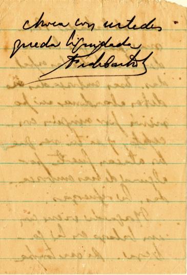 Mensaje del Comandante en Jefe al capitán Ramón Paz, con instrucciones de ocupar posiciones, 27 de julio de 1958.