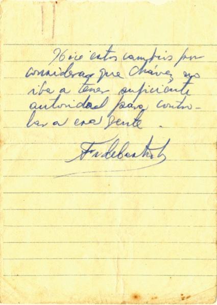 Mensaje del Comandante Fidel Castro al capitán Ramón Paz, en que le comunica las posiciones más actualizadas de las fuerzas rebeldes en varios puntos, y le cursa instrucciones, 28 de junio de 1958 (8:30 am). (3-3)