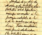 Parte militar firmado por Fidel que informa de los combates en Jigüe, donde preludia una victoria decisiva para el Ejército Rebelde.
