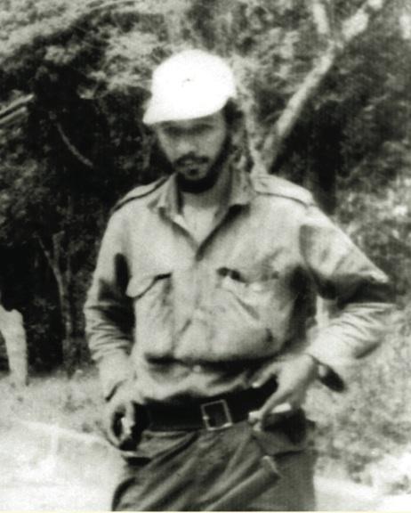 El combatiente rebelde Braulio Curuneaux, experto tirador de la ametralladora calibre 50.