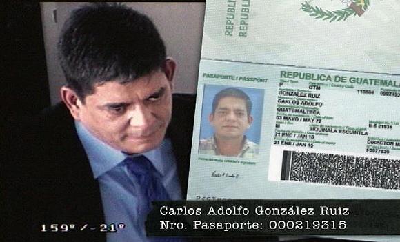 El terrorista Francisco Chávez Abarcar cuando entró a Venezuela con un pasaporte falso.