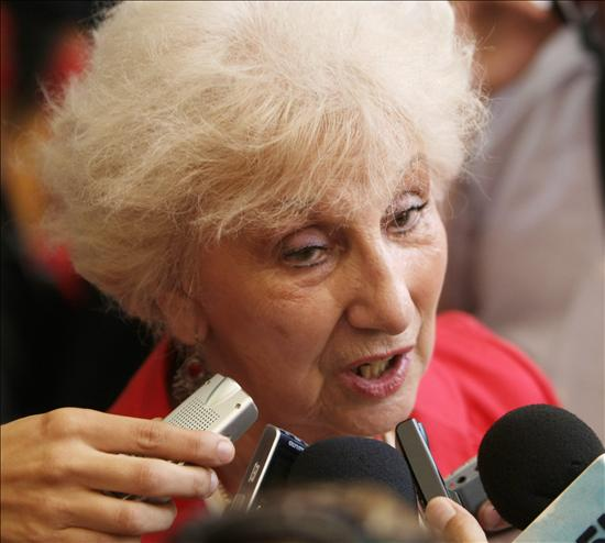 Estela Barnes de Carlotto, presidenta de las Abuelas de la Plaza de Mayo. Foto: Archivo