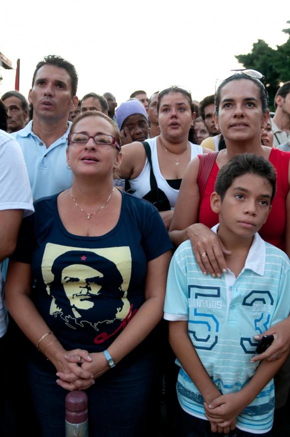 Fidel en la Universidad. Foto: Roberto Chile