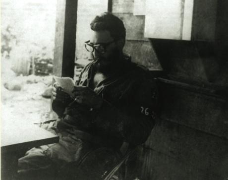 El Comandante Fidel Castro en casa de Bismark Galán Reina, en las Vegas de Jibacoa.