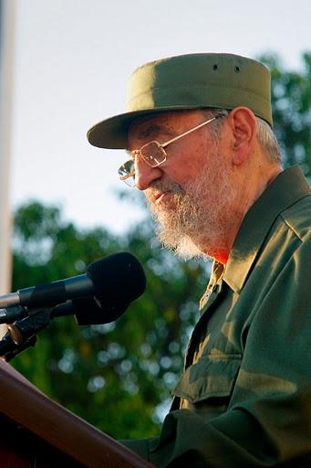 Fidel en la Universidad de La Habana. Foto: Alex Castro