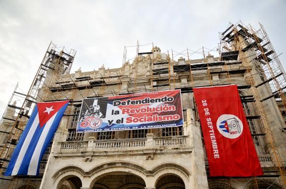 Antiguo Palacio Presidencial. Acto por el aniversario de los CDR. Foto: Roberto Chile