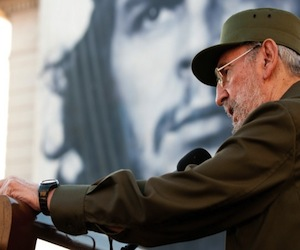 Fidel en la Universidad de La Habana, el 3 de septiembre de 2010. Foto: Roberto Chile