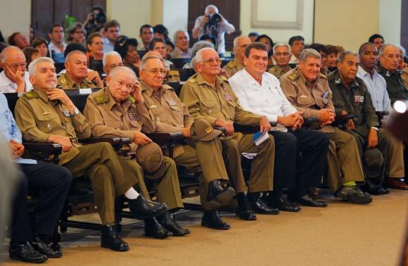 """Fidel en la presentación de """"La victoria estratégica"""". Foto: Alex Castro"""