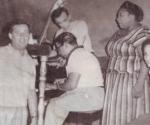 """Placa del único que grabó Freddy, en 1960. Portada de la placa de acetato número 552 de la firma Puchito: """"Noche y día"""". Freddy con la orquesta de Humberto Suárez."""