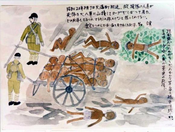 Dibujos de los sobrevivientes de Hiroshima