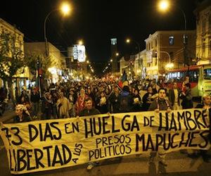 Mapuches en huelga