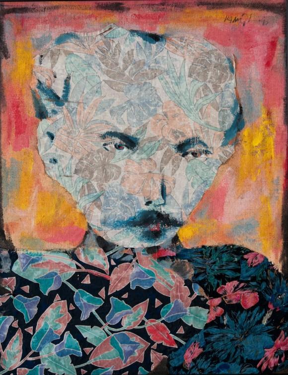 "Kamyl: ""Martí con flores"" (tecnica mixta 97x75 cm). 2007"