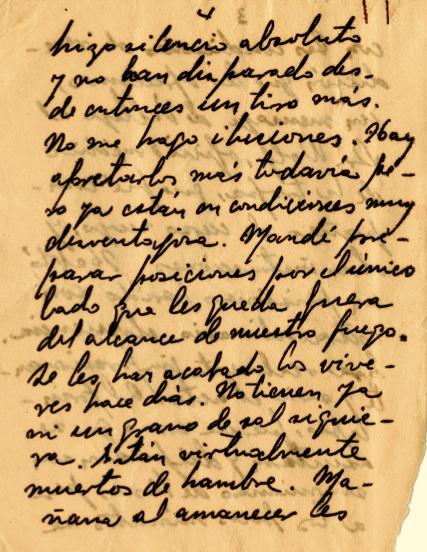 Misiva de Fidel al Che donde lo felicita por sus esfuerzos, le cursa ins- trucciones y lo pone al tanto de los acontecimientos y de sus planes en Jigüe, 16 de julio de 1958.