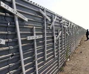 Muro en la frontera Mexico-Estados Unidos