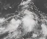 Imagen de satélite GOES de esta mañana. Se observan las amplias áreas de lluvia fuerte e intensa asociadas a la nueva Depresión Tropical No. 16. Este es el elemento más importante en esta Depresión Tropical o en la Tormenta Tropical en que convertirá desde esta noche