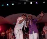 Paulo FG y Amaray en el Salón Rosado de la Tropical. Foto de archivo