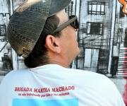 Sandor González. Detalle. Mural por la paz de la Brigada Martha Machado. Foto: Roberto Chile