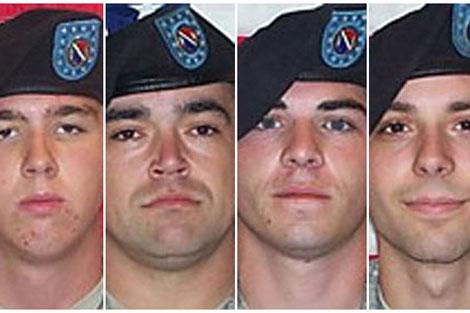 Cuatro de los acusados de homicidio (Holmes, Wagnon, Morlock y Winfield). Tomado de www.guardian.co.uk