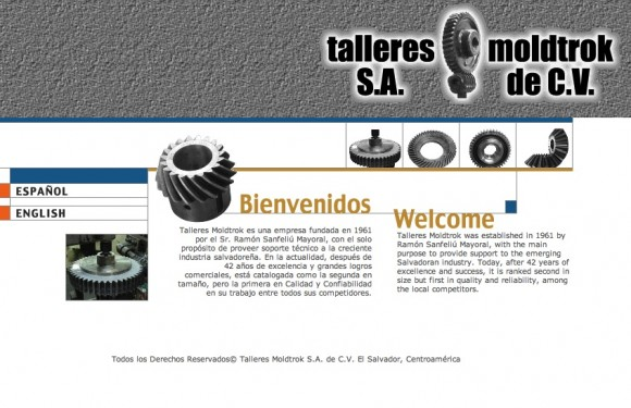 La página en Internet de Talleres Moldtrok
