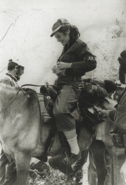 Vilma y Fidel en la Sierra Maestra.