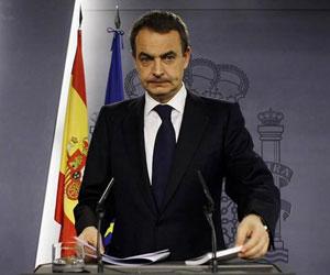 José Luis Rodríguez Zapatero, jefe del gobierno español. Foto de archivo