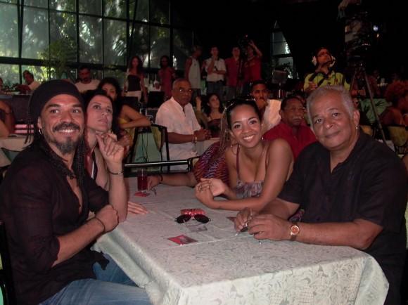 La familia Alfonso durante la Gala de Nominados.